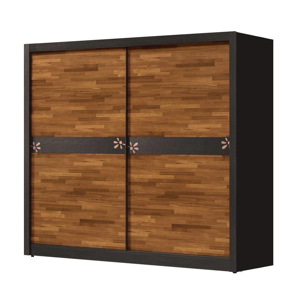 文創集 比德7.1尺多功能推門衣櫃(吊衣桿+三抽屜+內開放層格)-212x60x202免組