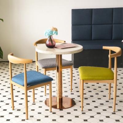完美主義 牛角靠背簡約餐椅/楓木椅/電腦椅/化妝椅(3色)