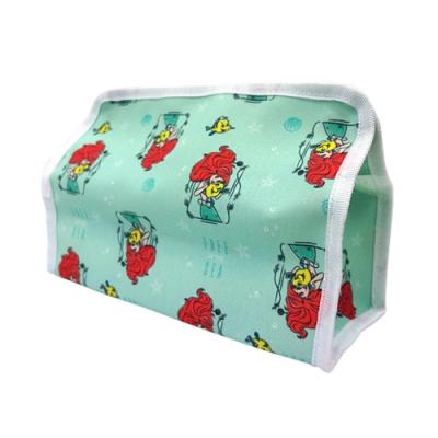 [收納皇后]公主系列 花布鈕扣式面紙套 愛麗絲 小美人魚 Q版公主 3款可選 (迪士尼正版授權)