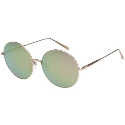LONGCHAMP 水銀面 圓框 太陽眼鏡 (金色)LO116