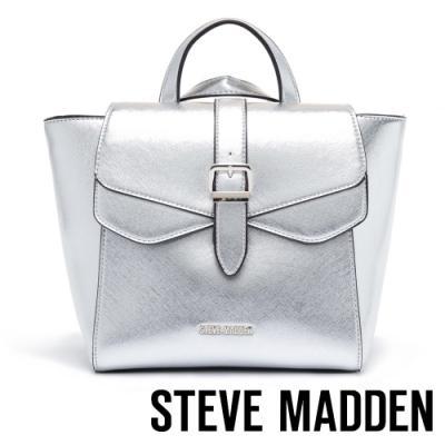 STEVE MADDEN-BJANAB 時尚優雅翻蓋手提/肩斜背/後背蝙蝠包-銀色