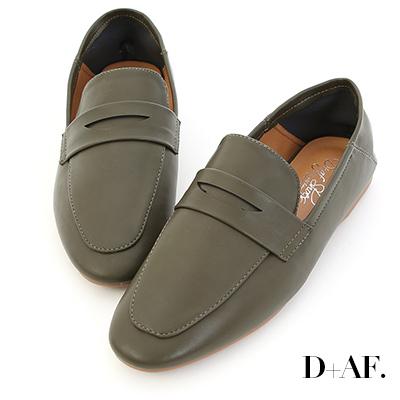 D+AF 日常印象.經典款可後踩樂福鞋*綠
