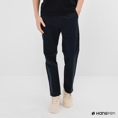 Hang Ten-男裝-STRAIGHT FIT直筒九分褲-深藍色