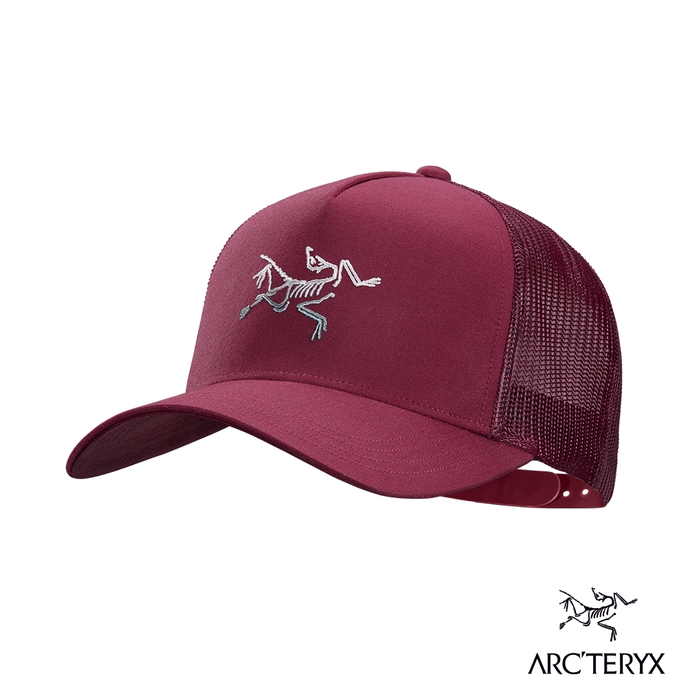 Arcteryx 始祖鳥 Polychrome 網布 混棉 棒球帽 深仙境紅
