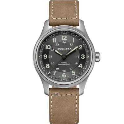 Hamilton 漢米爾頓 卡其野戰系列 TITANIUM機械錶(H70545550)