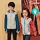 ADISI 童撥水保暖拼接彈性連帽外套AJ1821063【勇士藍】 product thumbnail 1