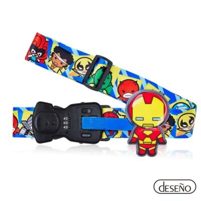 Marvel 漫威英雄Q版秤重行李箱束帶III-鋼鐵人