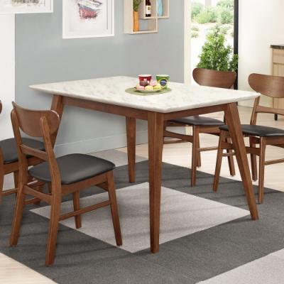 Boden-溫克4尺胡桃色石面餐桌-120x80x77cm