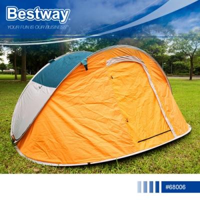 Bestway 68006輕鬆拋四人帳篷遮陽通風透氣防蚊防水沙灘露營帳篷速拋秒彈開懶人帳篷