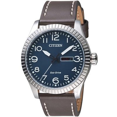 CITIZEN 星辰 GET S 復古光動能限量腕錶(BM8530-11L)藍色42mm
