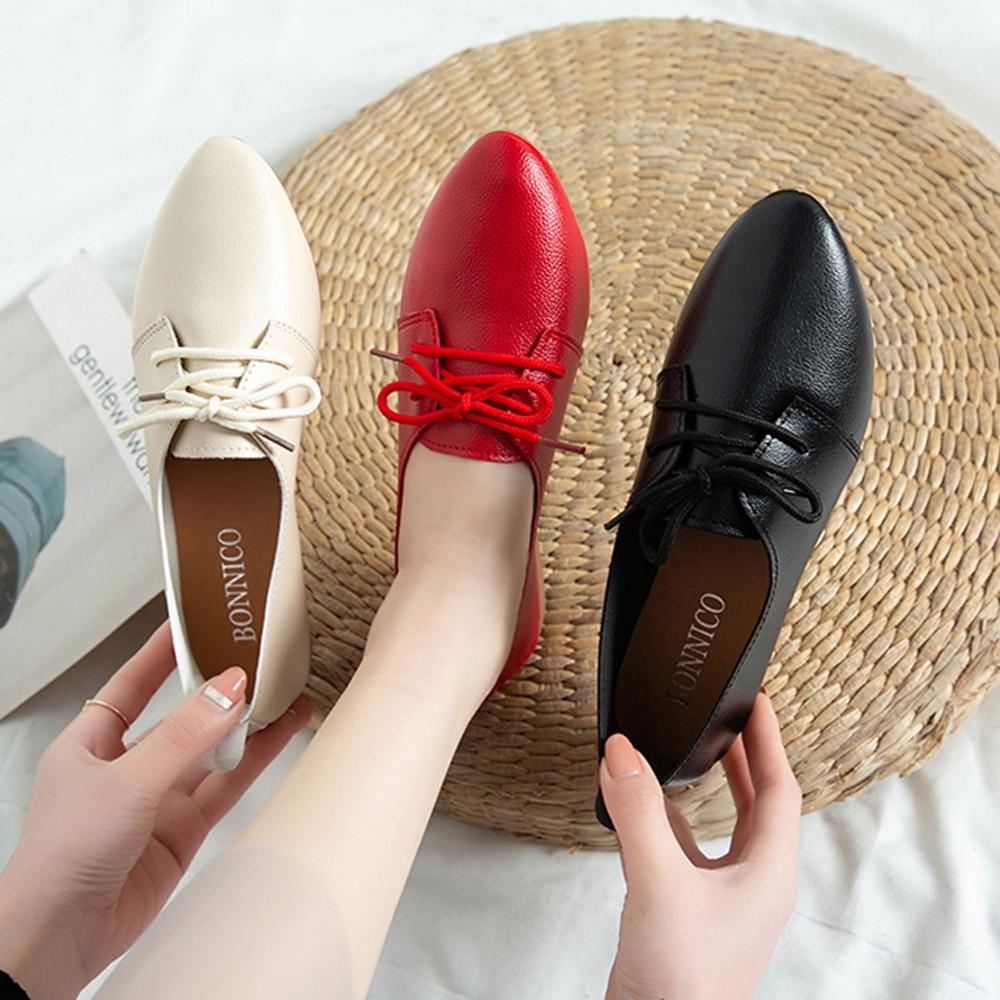 KEITH-WILL時尚鞋館-獨賣晴雨帥氣低筒皮鞋(通勤鞋/皮鞋)(共3色) (米白色)