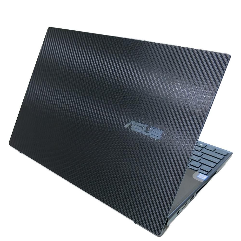 EZstick ASUS UX581 UX581GV 黑色 Carbon 立體紋機身貼