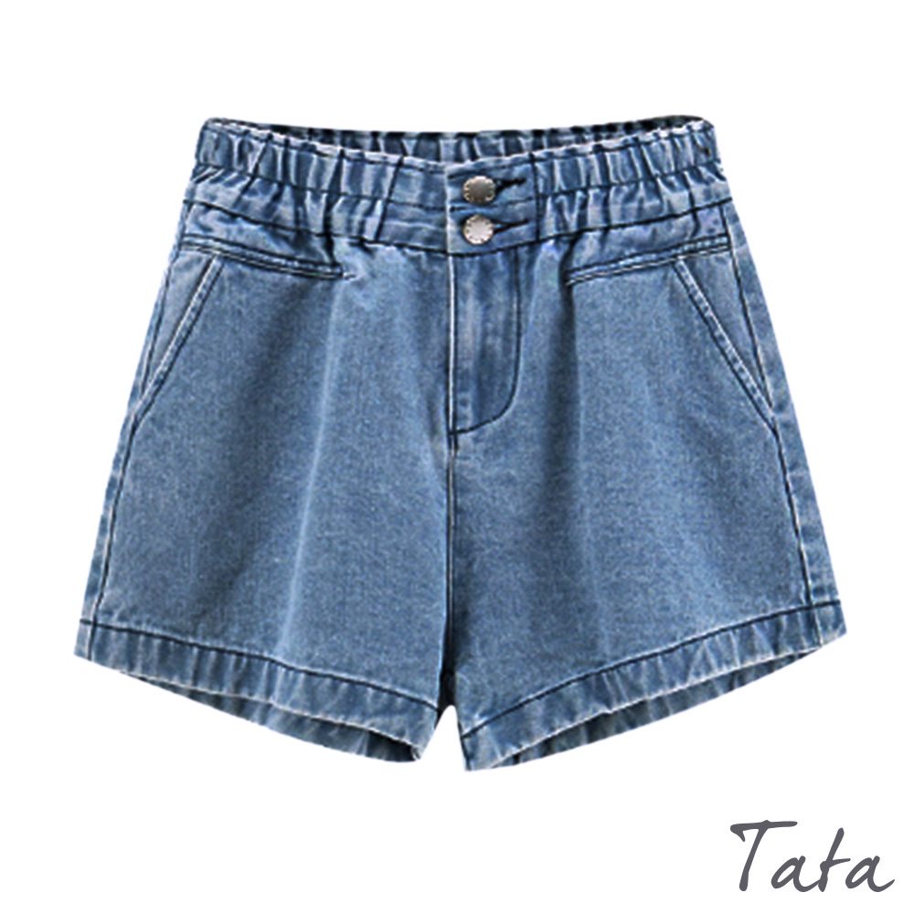 寬鬆兩粒扣牛仔短褲 TATA product image 1