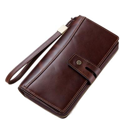 玩皮工坊-真皮頭層牛皮28卡位翻頁式男士皮夾皮包錢夾男夾LH585