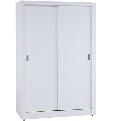 綠活居 特斯拉4.1尺推門衣櫃(三色)-121.5x61x196.5cm-免組