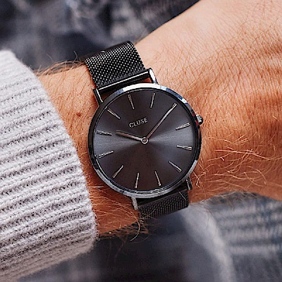 CLUSE La Bohème腕錶禮盒/ 碳灰框碳灰底 -38mm