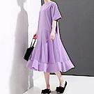 不規則網紗層次拼接連身裙-(共二色)Andstyle