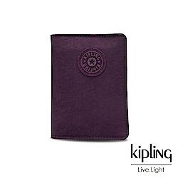 Kipling 深紫素面收納卡夾-PASSPORT HOLDER