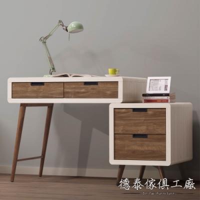 D&T 德泰傢俱 Miduo北歐胡桃木3尺伸縮書桌 -91x59.5x78cm