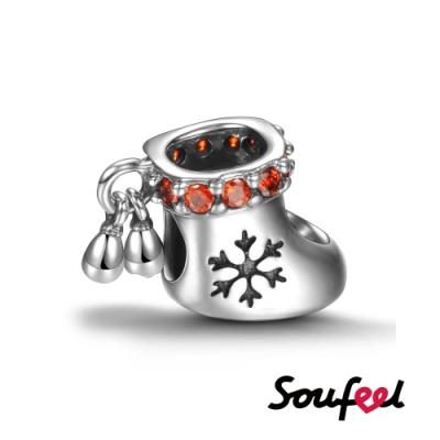 SOUFEEL索菲爾 925純銀手鍊珠飾 聖誕襪 串珠