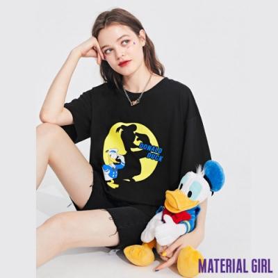 MATERIAL GIRL 黑色唐老鴨趣味剪影印花上衣【20秋季款】-11189