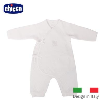 chicco- 菱點夾棉肚衣式兔裝-米