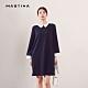 【MASTINA】設計款襯衫領長版-洋裝(二色) product thumbnail 1