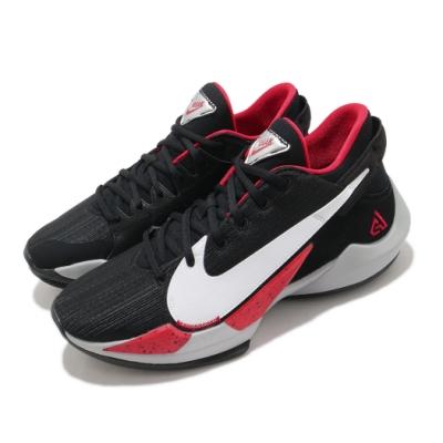 Nike 籃球鞋 Zoom Freak 2 運動 男鞋 避震 支撐 包覆 明星款 字母哥 球鞋 黑 白 CK5825003