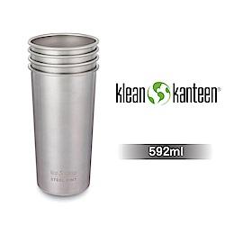 美國Klean Kanteen 不鏽鋼飲料杯4入組-592ml