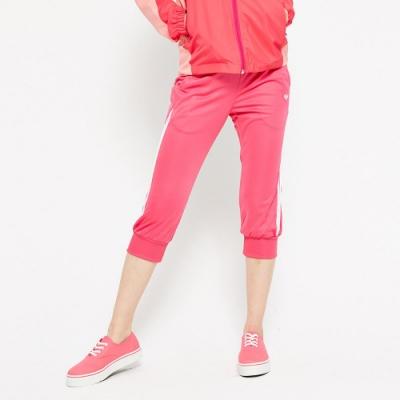 【FIVE UP】極顯瘦舒適吸排針織七分褲-桃紅