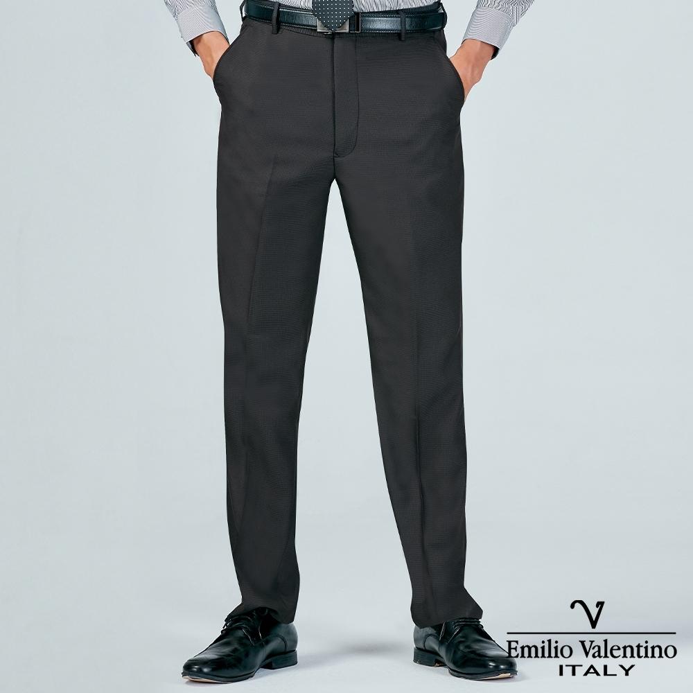 Emilio Valentino 范倫提諾商務平面西裝褲-灰