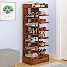ANDYMAY2 日式創新多層收納木架鞋櫃/雙邊7層(帶抽屜)