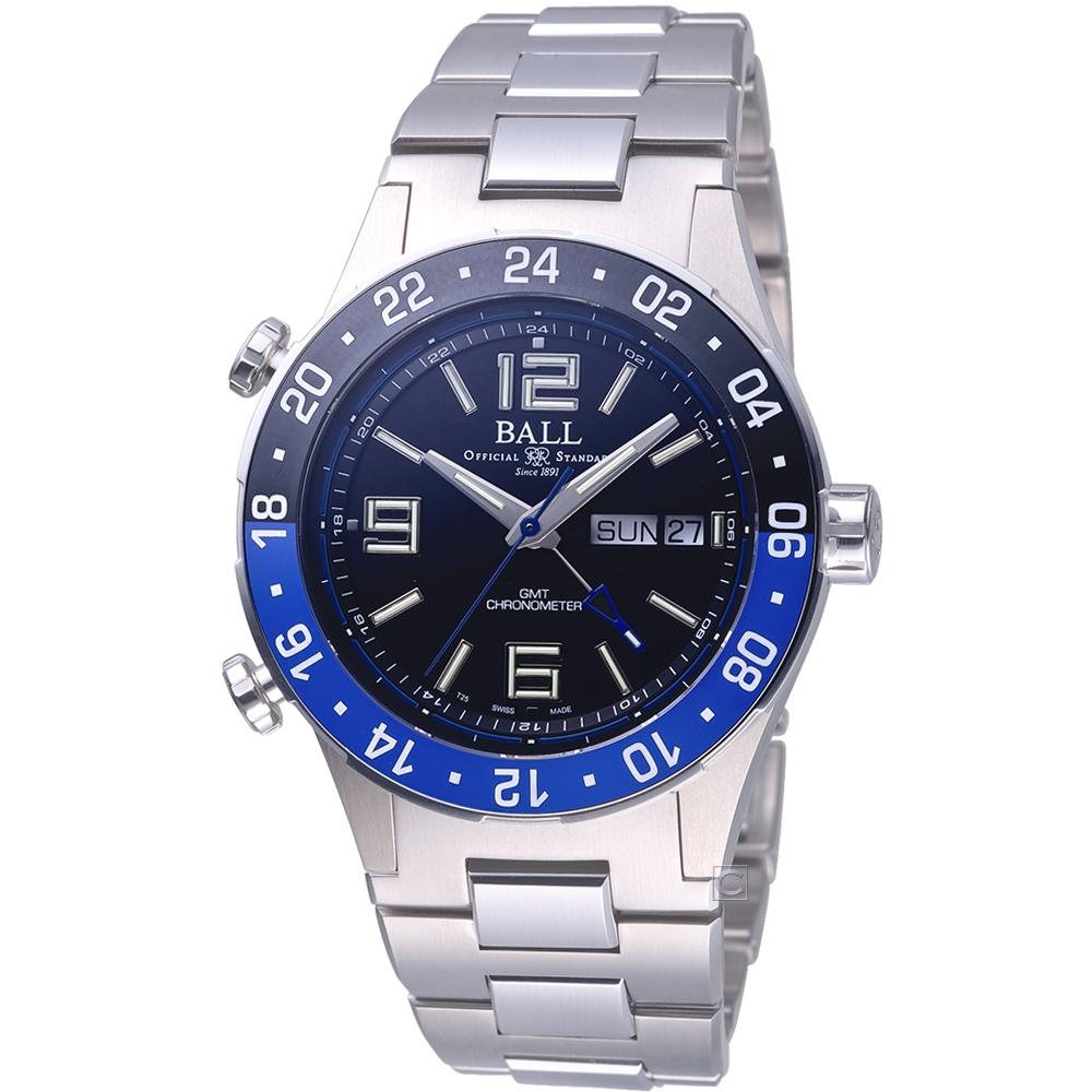 BALL WATCH Roadmaster Marine GMT 瑞士天文台認證機械錶(DG3030B-S1CJ-BK)黑/40mm