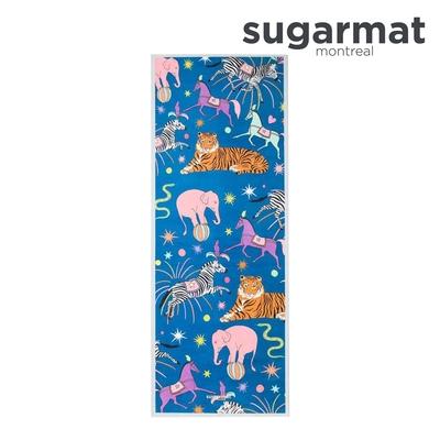 加拿大Sugarmat 麂皮絨天然橡膠加寬瑜珈墊(5.0mm) 繽紛馬戲團 The Circus Act