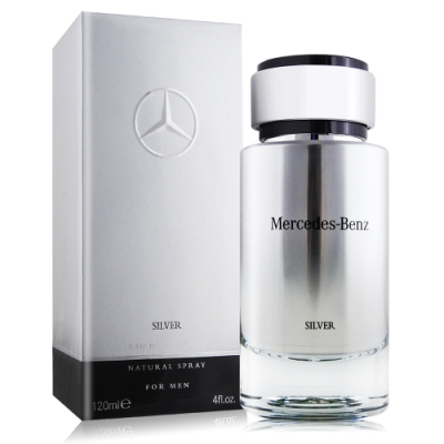 Mercedes Benz 賓士 銀輝幻羽男性淡香水 SILVER 120ml EDT-國際航空版