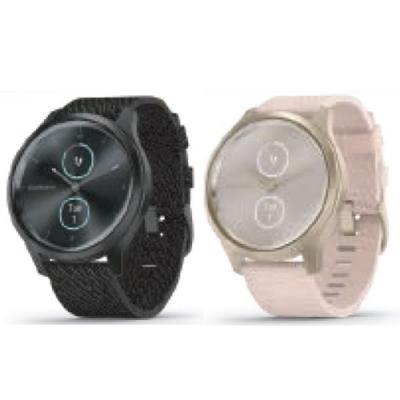 GARMIN vivomove style 指針智慧腕錶(尼龍錶帶)