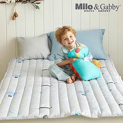Milo&Gabby 動物好朋友-兒童超細纖維防蟎床墊(奇幻冒險-灰) @ Y!購物