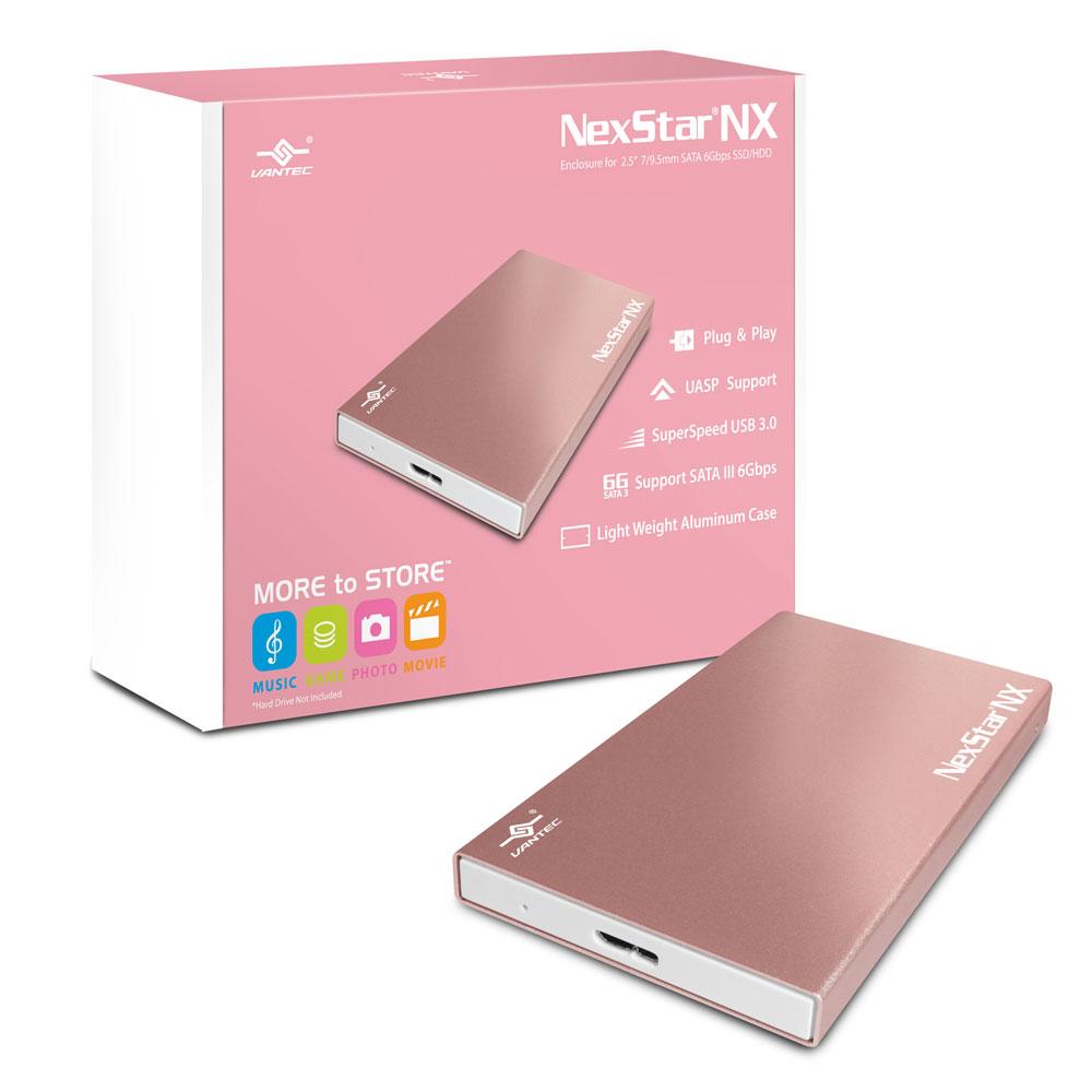 凡達克2.5吋 玫塊金 USB3.0 硬碟外接盒
