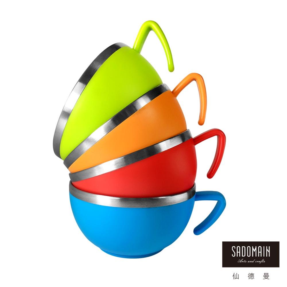 仙德曼SADOMAIN森活304不鏽鋼杯碗420ml(4入組)