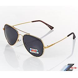 【Z-POLS】頂級記憶合金輕量金框版黑灰Polarized 抗UV400偏光眼鏡