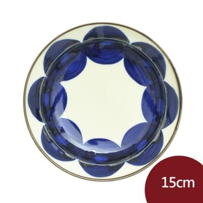 日本Natural69 波佐見燒 吳須 甜點盤 丸紋 15cm