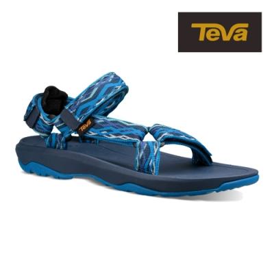 【TEVA】原廠貨 中/大童 Hurricane XLT2 機能運動涼鞋/雨鞋/水鞋/童鞋(鎖鏈藍-TV1019390YDLB/TV1019390CDLB)