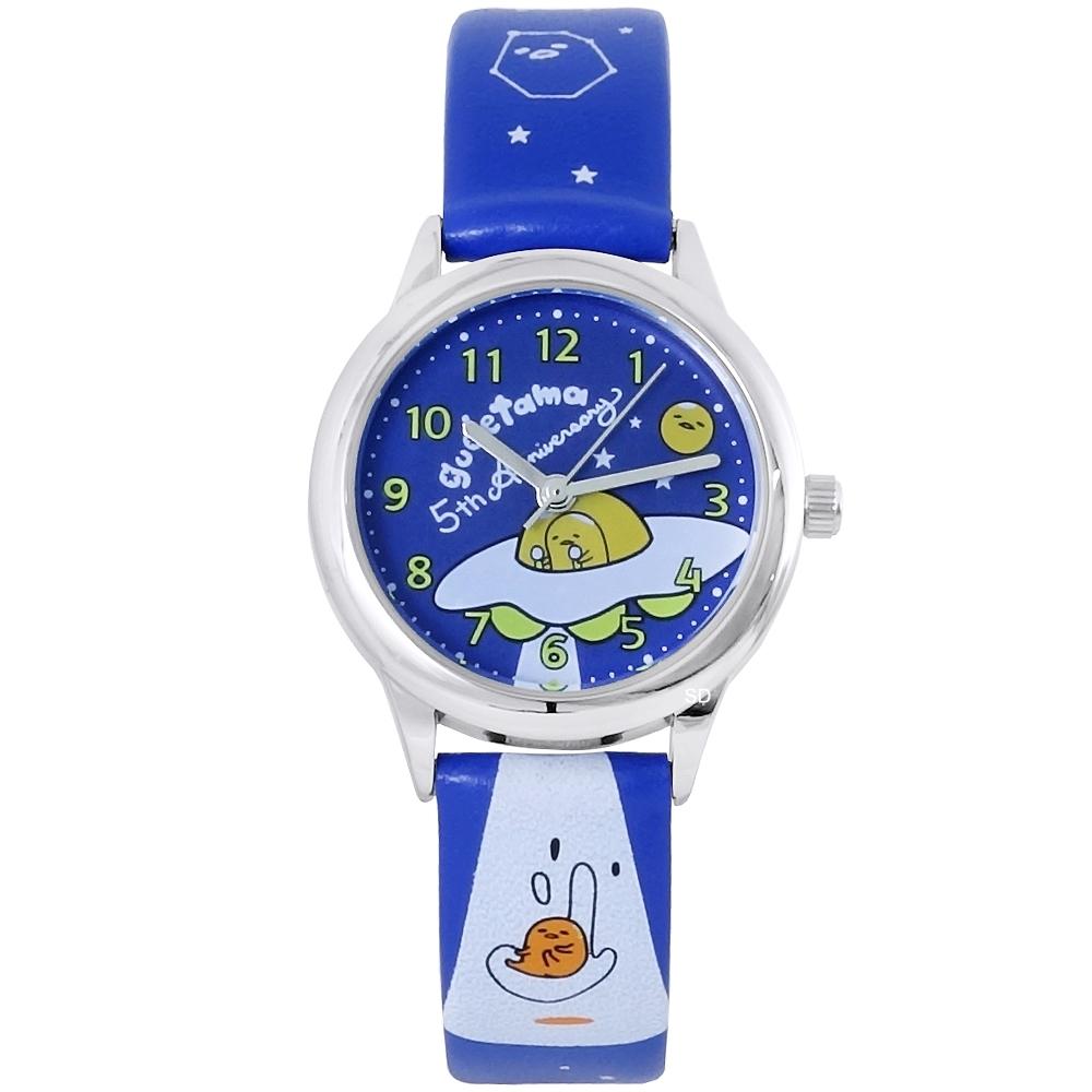 HELLO KITTY Gudetama 蛋黃哥五周年紀念手錶-藍/30mm