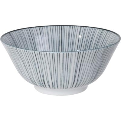 《Tokyo Design》瓷製餐碗(線紋黑15cm)