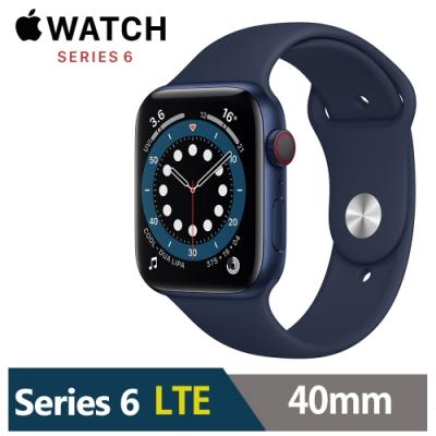 Apple Watch S6 40mm 鋁金屬錶殼配運動錶帶(GPS+Cellular版)