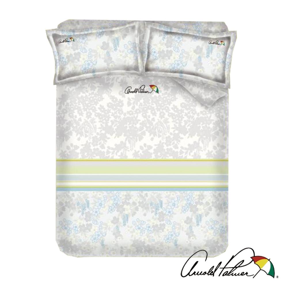 Arnold Palmer雨傘牌 灰迷草醉月-台製60紗精梳棉床包被套雙人加大四件組