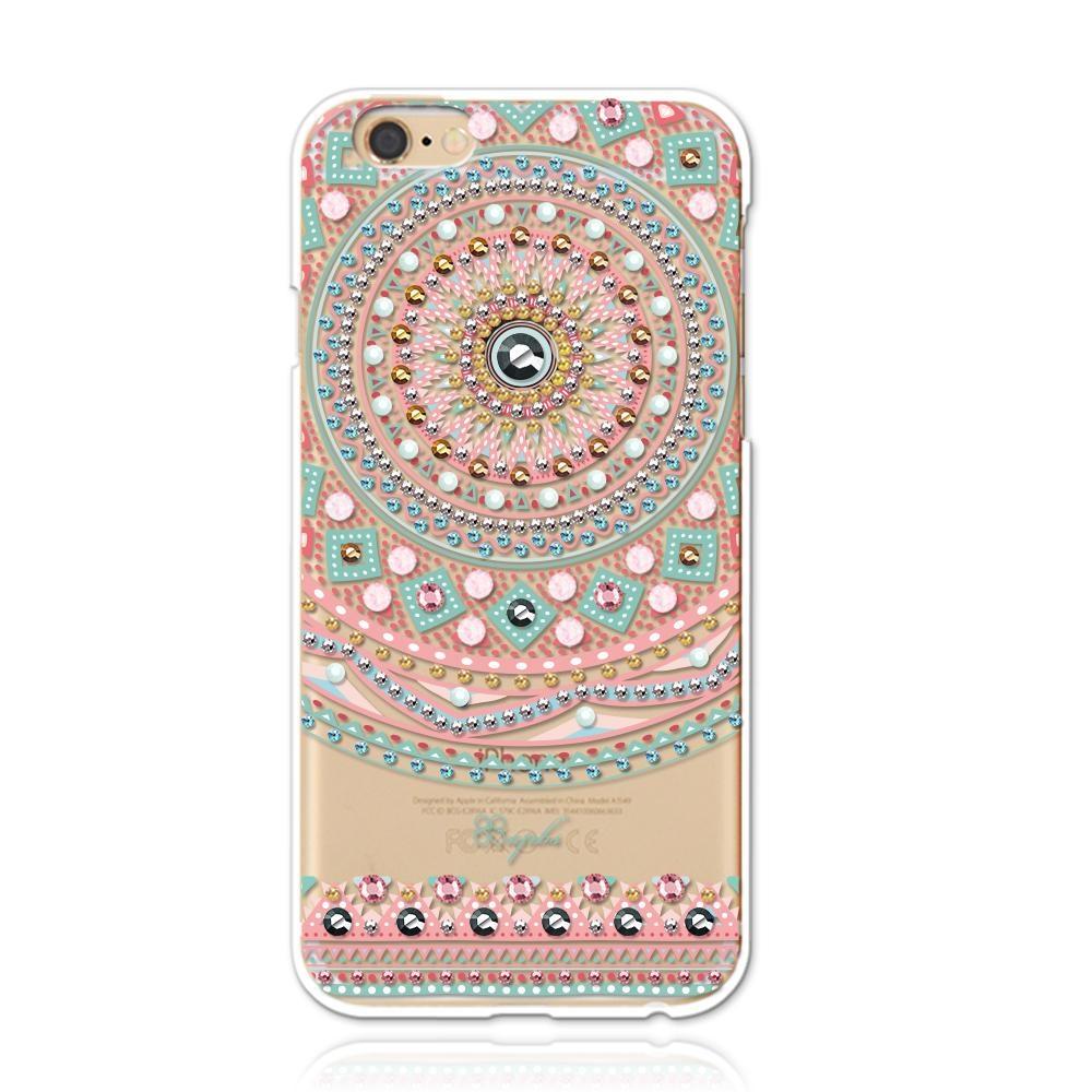 apbs iPhone6s Plus/6 Plus 5.5吋施華洛世奇彩鑽手機殼-滿版圖騰