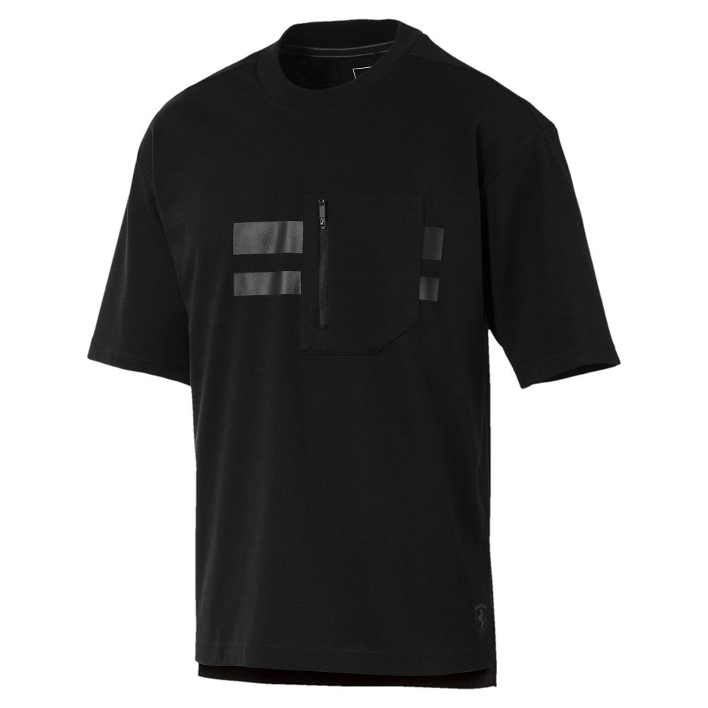 PUMA-男性法拉利經典系列Life短袖T恤-黑色-歐規