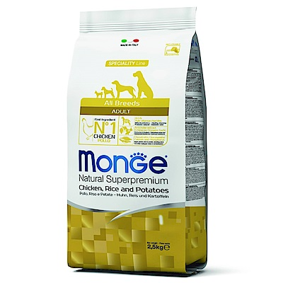 Monge Natural 天然特選 成犬 雞肉配方 2.5KG