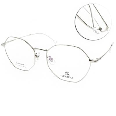 SEROVA眼鏡 韓風多邊框款/玫瑰金 #SL362 C2
